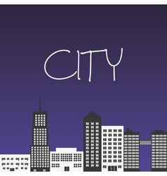 City landscapes with buildings and text eps10 vector