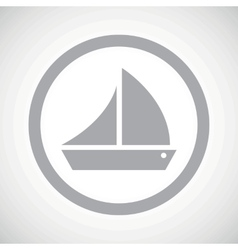 Grey sailing ship sign icon vector