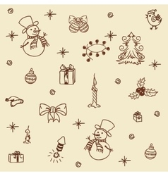 Christmas set seamless vector image