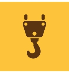 The crane hook icon building and lifting symbol vector