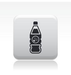 dangerous bottle icon vector image