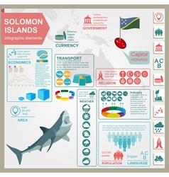 Solomon islands infographics statistical data vector
