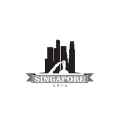 Singapore asia city symbol silhouette vector