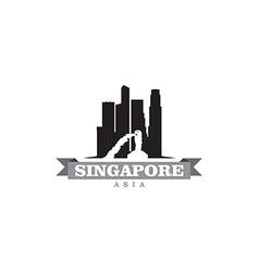 Singapore Asia city symbol silhouette vector image