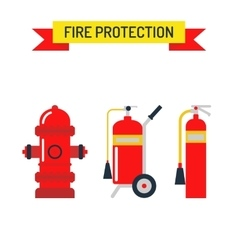 Red fire hydrant emergency department flat vector