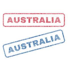 Australia textile stamps vector