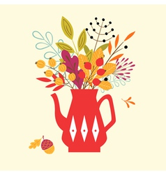 Autumn bouquet vector image