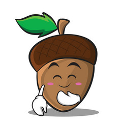 blush acorn cartoon character style vector image vector image