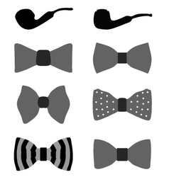bow ties and pipes vector image vector image