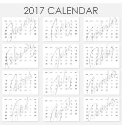 Calendar 2017 - template vector
