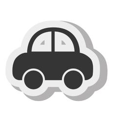 Car cartoon black sedan transport design vector