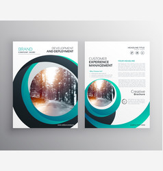 creative cicular shape business flyer brochure vector image