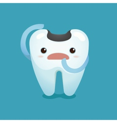 Decay tooth unhappy vector image vector image