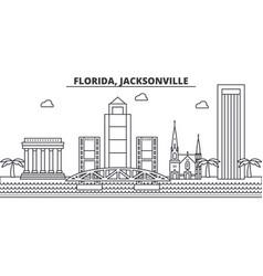Florida jacksonville architecture line skyline vector