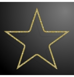 Frame gold sequins star glitter sparkle vector