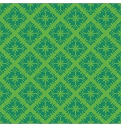 Green vintage seamless pattern vector