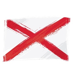 grunge alabama flag vector image