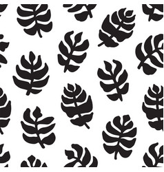 hand-drawn seamless pattern with floral design vector image vector image