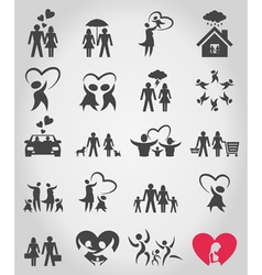 Icons a family vector