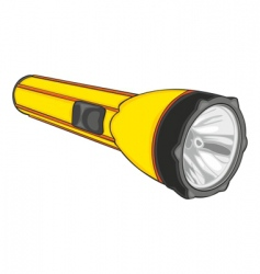 isolated flashlight vector image