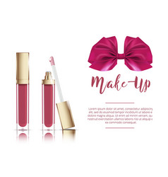 liquid lipstick with ribbon vector image