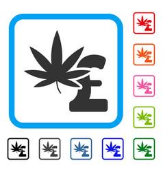Marijuana pound business framed icon vector