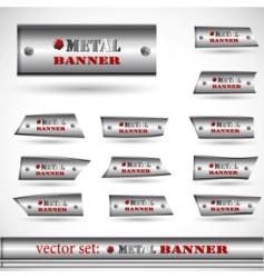 metallic banner set vector image