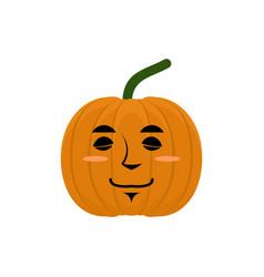 pumpkin sleeping emoji halloween and thanksgiving vector image