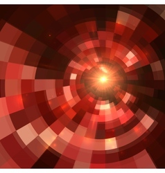 Red abstract circle mosaic background vector image vector image