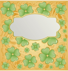 Retro background for St Patrick Days vector image vector image