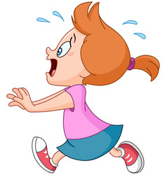 running panic girl vector image vector image