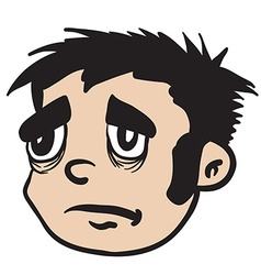 Sad boy vector