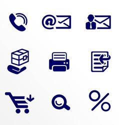 Shop and office icons set vector