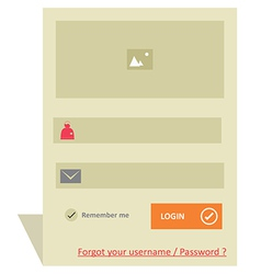 User login 47 vector image vector image
