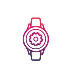 Watch repair icon logo vector