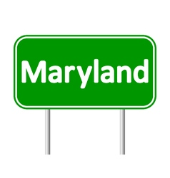 Maryland green road sign vector