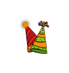 Party hat celebration icon vector