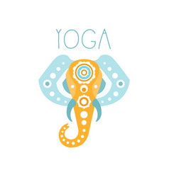 yoga logo symbol health and beauty care badge vector image