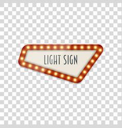 Light realistic retro banner template vector