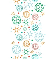 Colorful molecules vertical seamless pattern vector image
