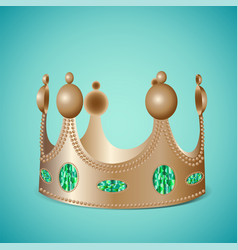bronze crown with gems vector image