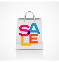 Sale shopping bag abstract vector