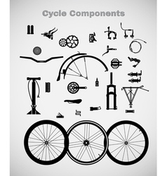 Cycle components vector image