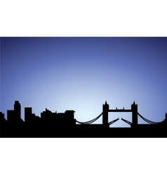 Silhouette of london city england vector