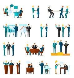 Collaboration icons set vector