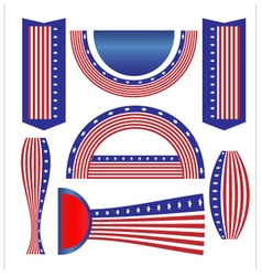 Ribbon banner flag american vector