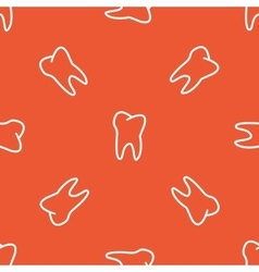 Orange tooth pattern vector