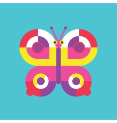 Butterfly icon insect vector