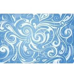 Water swirls ornament vector