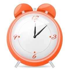 Orange alarm clock vector